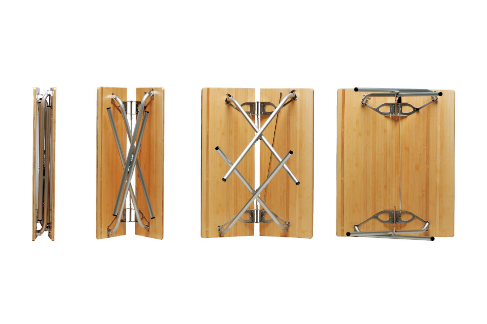 ワンアクションテーブル竹の開閉構造