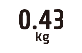 0.43kg
