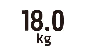18.0kg