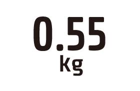 0.55kg