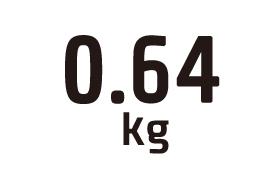 0.64kg