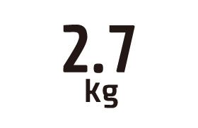 2.7kg