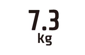 7.3kg