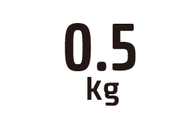 0.5kg