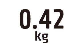 0.42kg