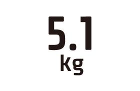 5.1kg
