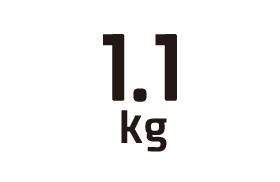 1.1kg
