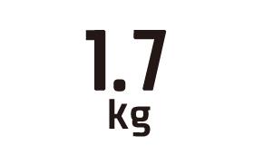 1.7kg