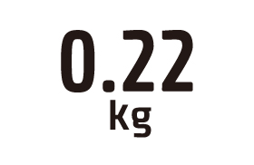 0.22kg