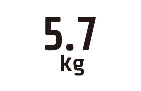 5.7kg
