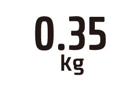 0.35kg