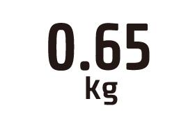0.65kg