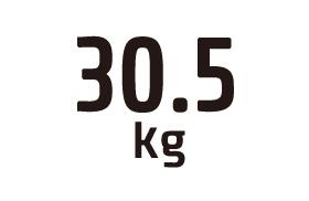 30.5kg