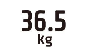 36.5kg
