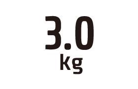 3.0kg