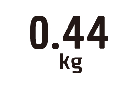 0.44kg