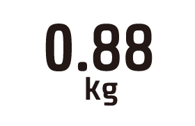 0.88kg