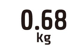 0.68kg
