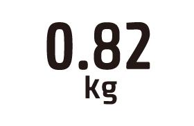 0.82kg