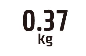0.37kg