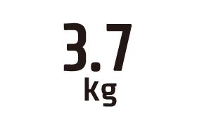 3.7kg