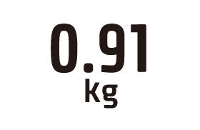 0.91kg