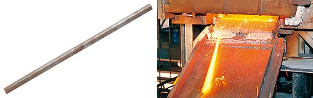 スチール55C鋼材を高熱処理
