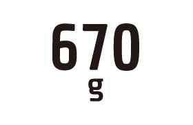 約670g