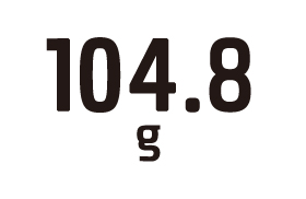 104.8g