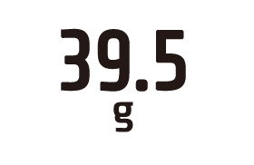 39.5g