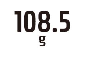 108.5g