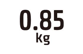 0.85kg