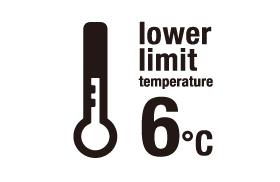 下度温度 6°C