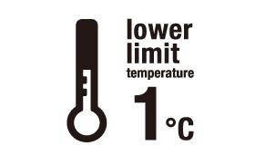 下度温度 1°C
