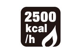 ストーブ火力 2500kcal
