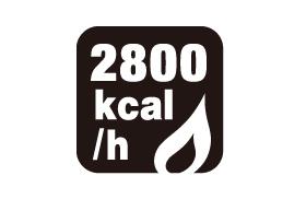 ストーブ火力 2800kcal