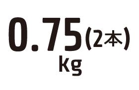 0.75kg
