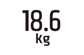 18.6kg