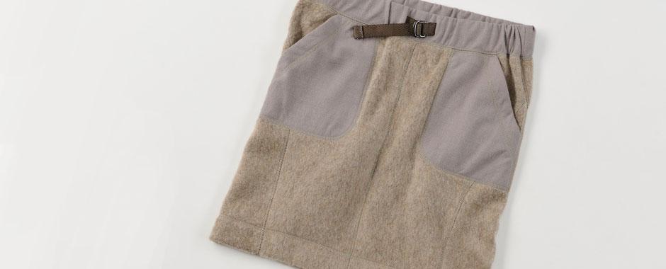 ウールフリーススカート